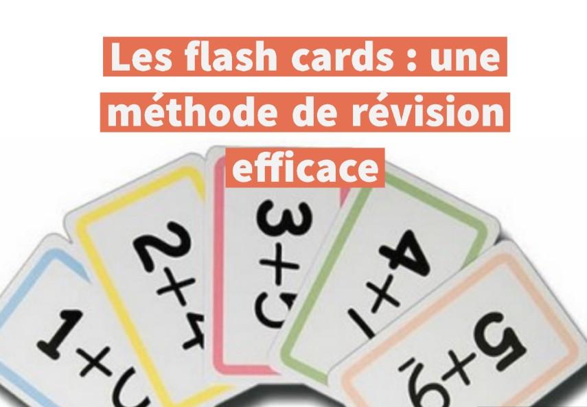 méthode de révision flash cards
