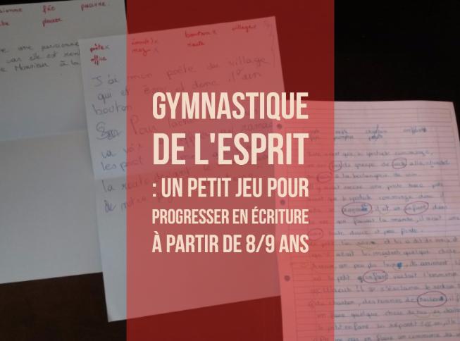 Gymnastique de l 39 esprit un petit jeu pour progresser en for Ecriture en miroir psychologie
