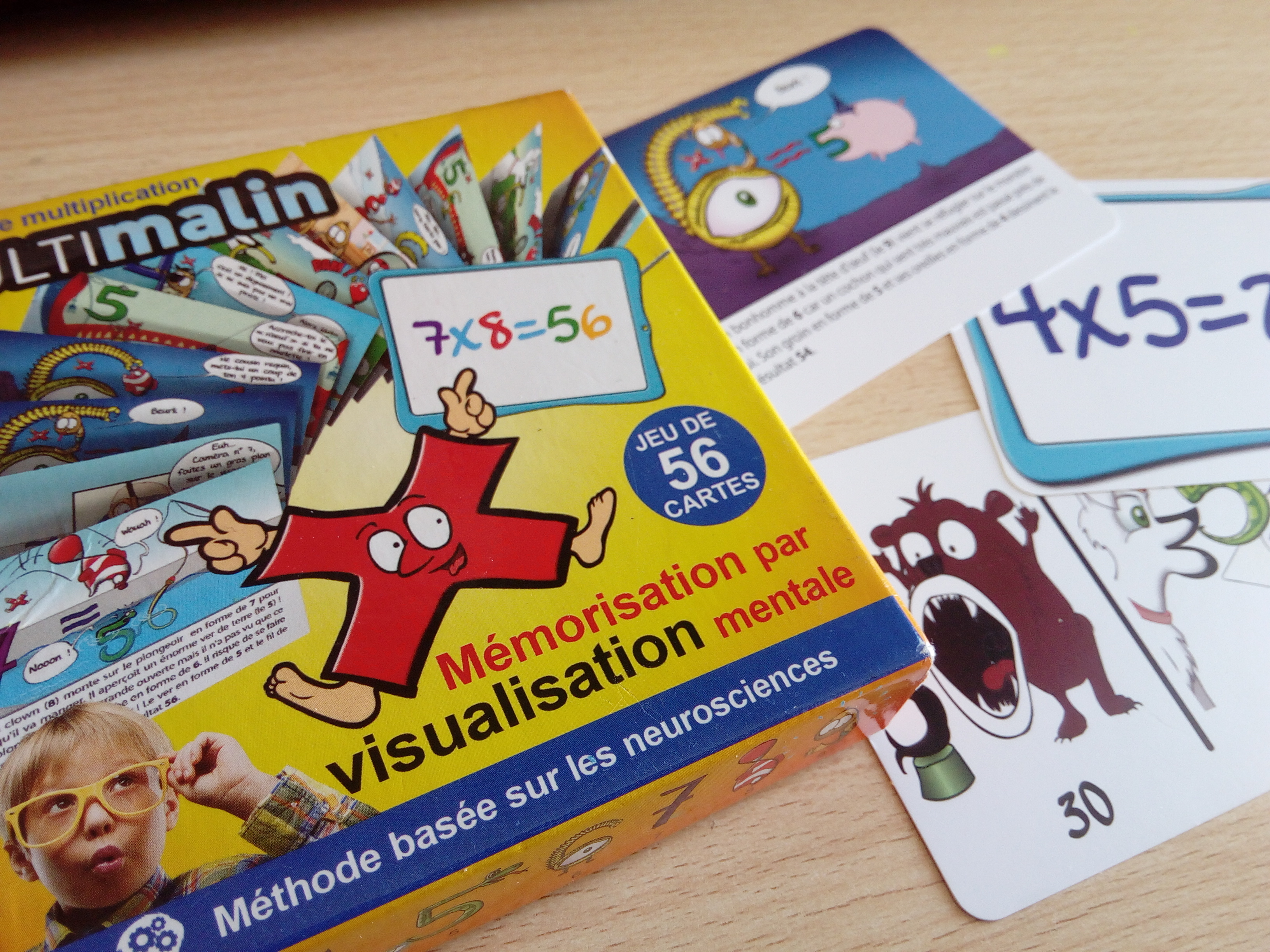 Meilleur de tous Multimalin : 56 cartes pour mémoriser durablement les tables de  CG58