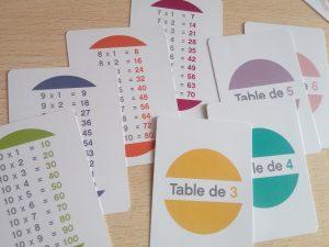 jeu mémoriser tables de multiplication