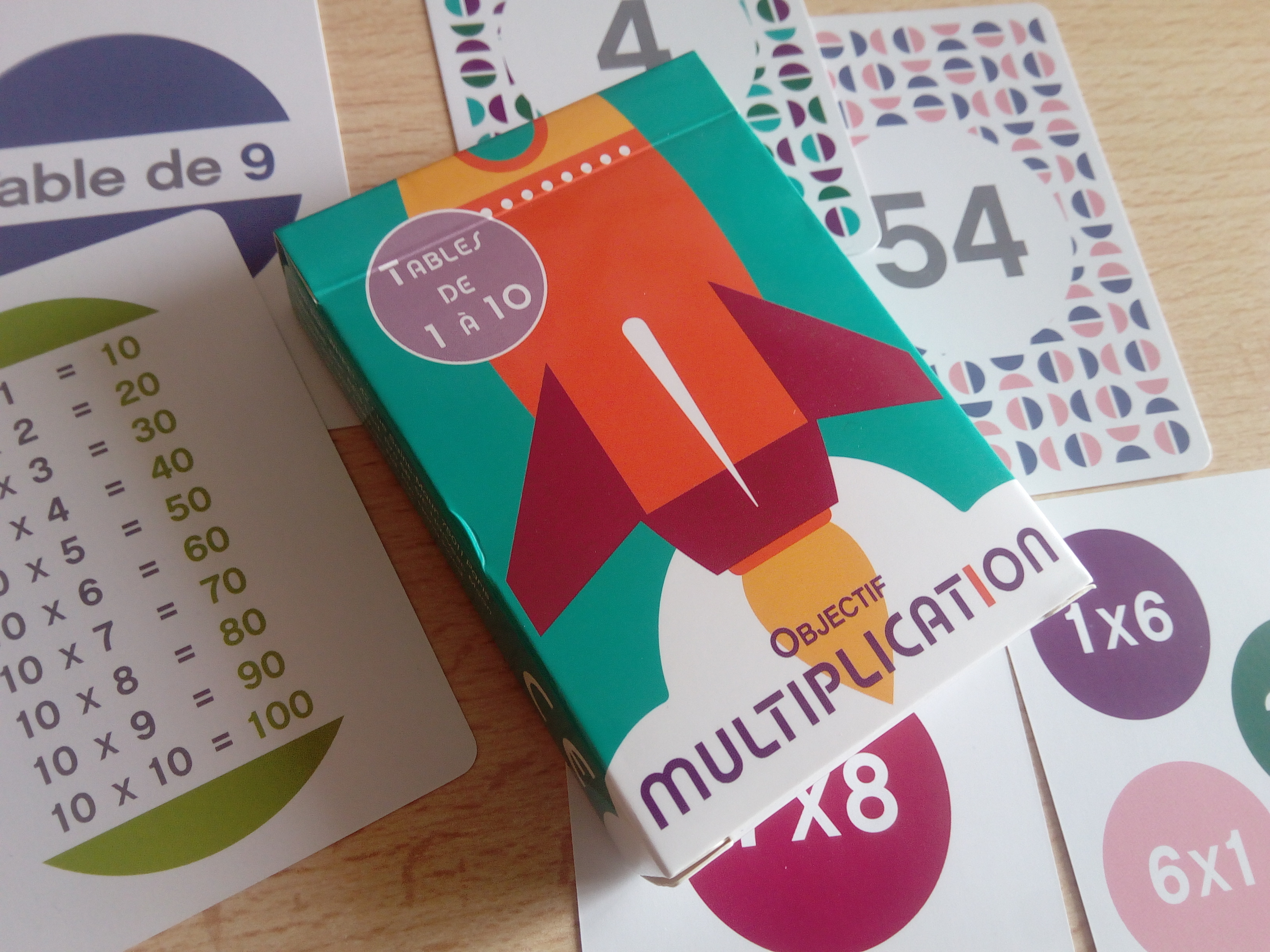 Objectif multiplication un jeu de cartes malin pour - Apprentissage table de multiplication ...