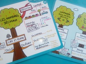 programme maths cartes mentales