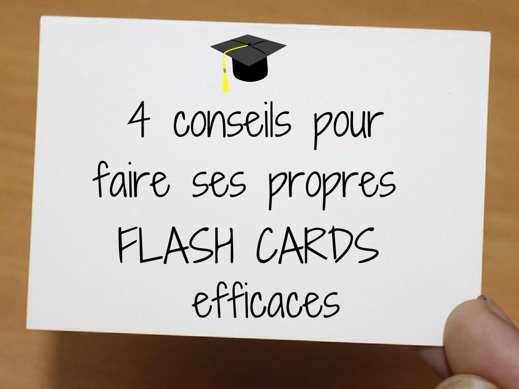 4 conseils pour faire ses propres flash cards efficaces. Black Bedroom Furniture Sets. Home Design Ideas