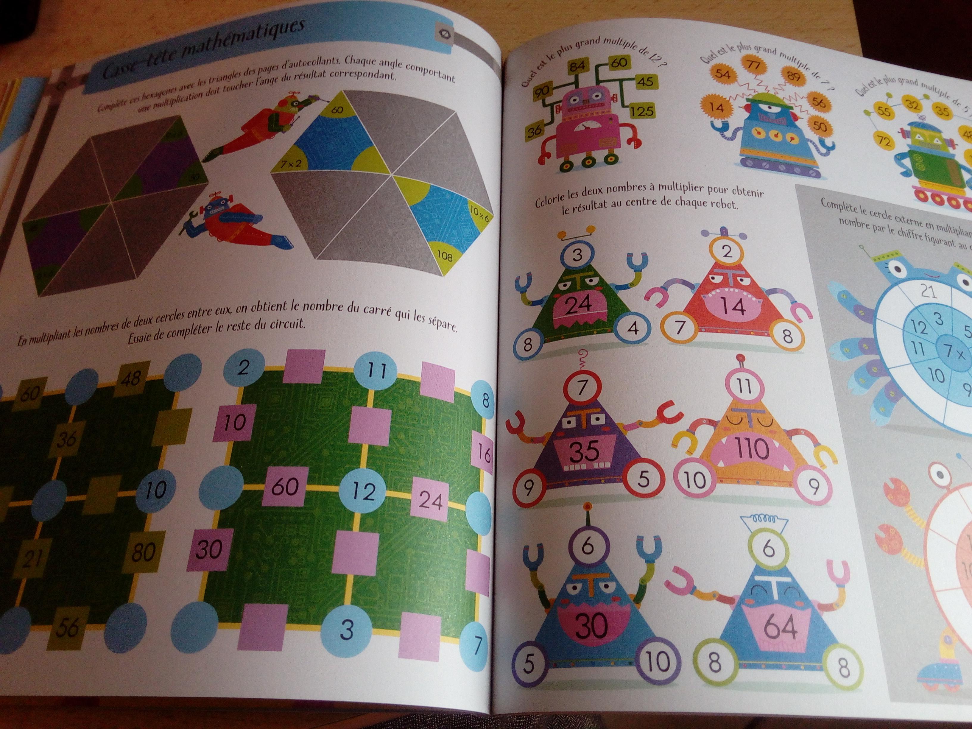 cahier apprendre multiplications