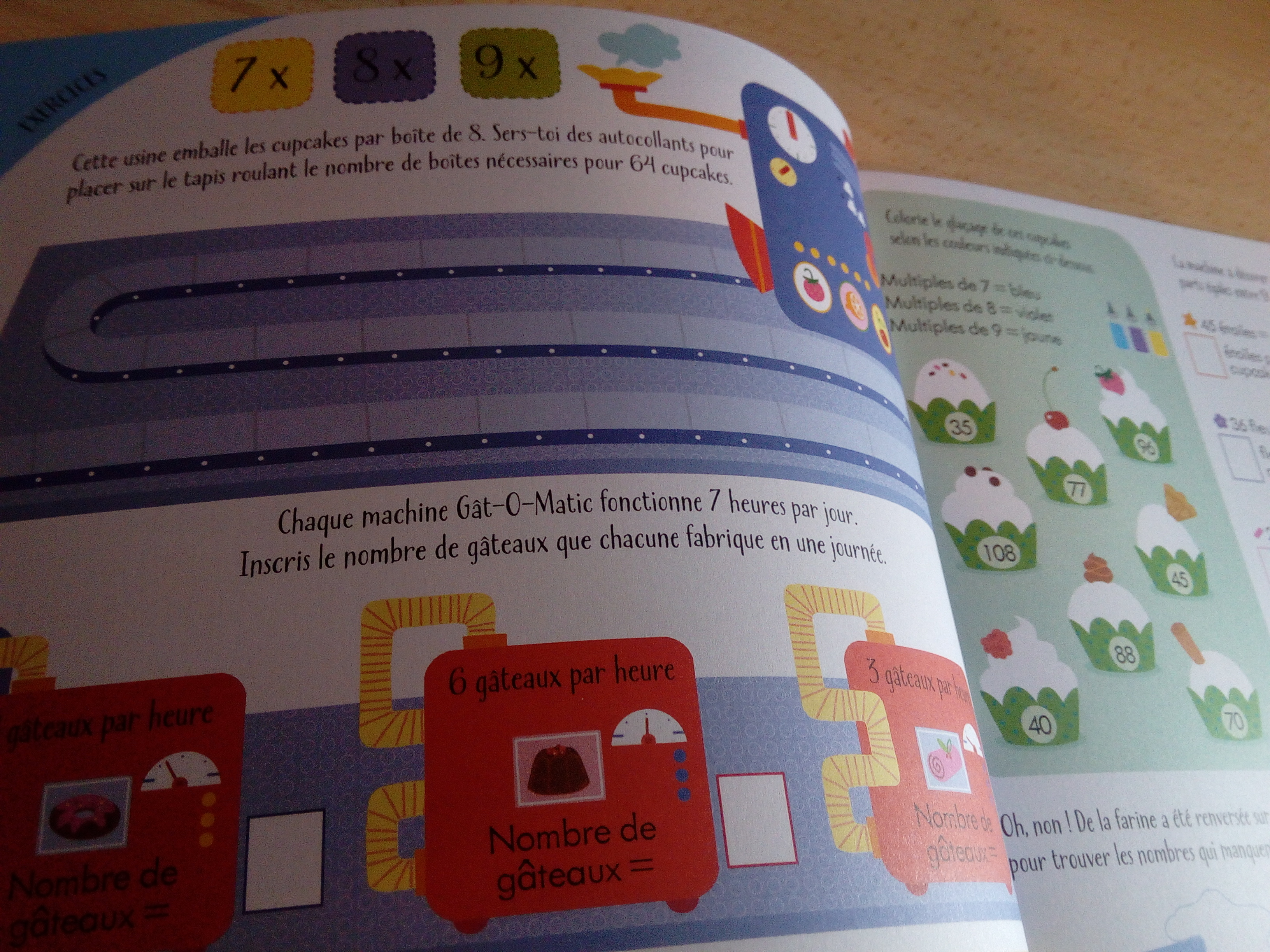 cahier apprendre table de multiplication
