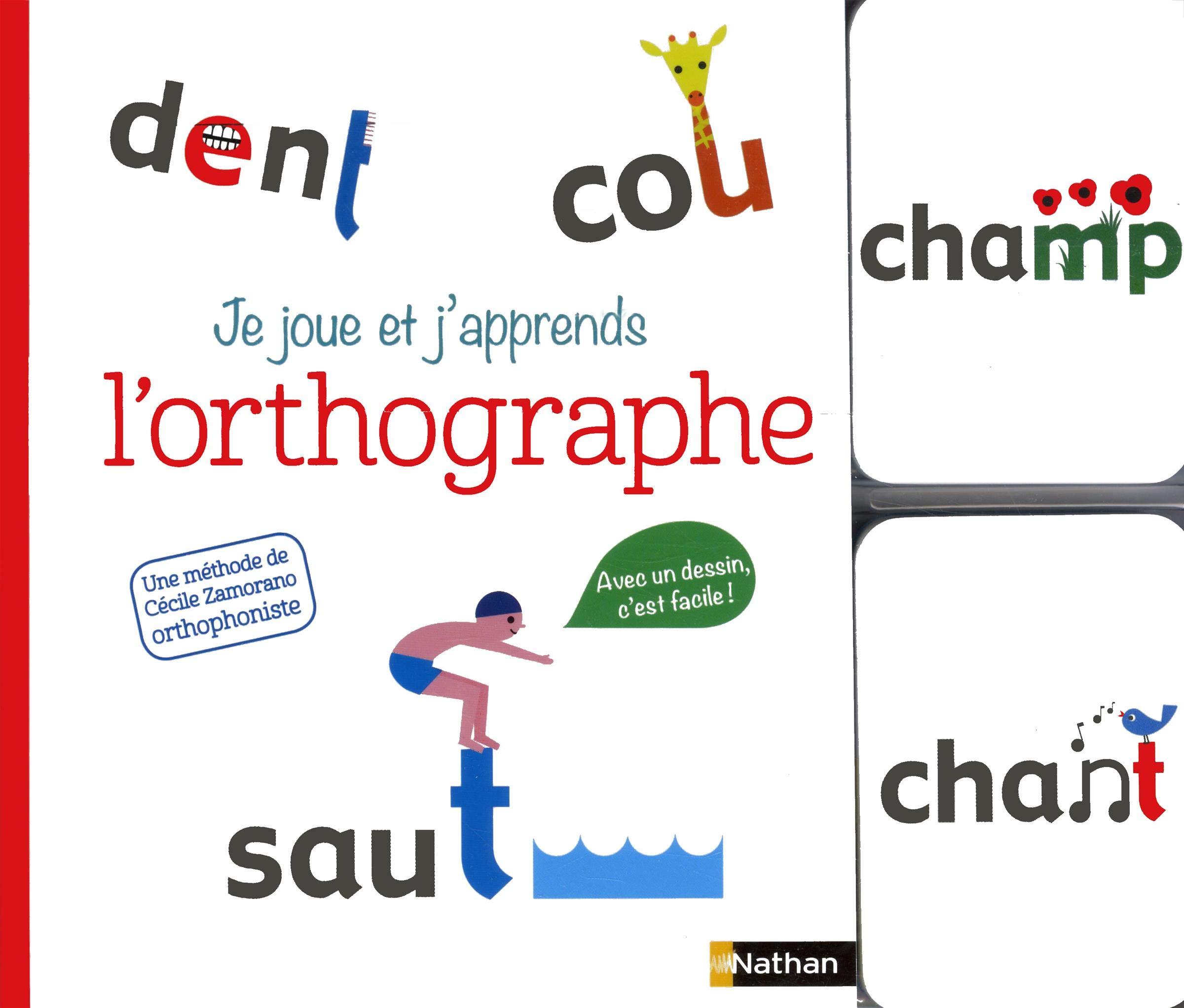 coffret cartes orthographe illustrée