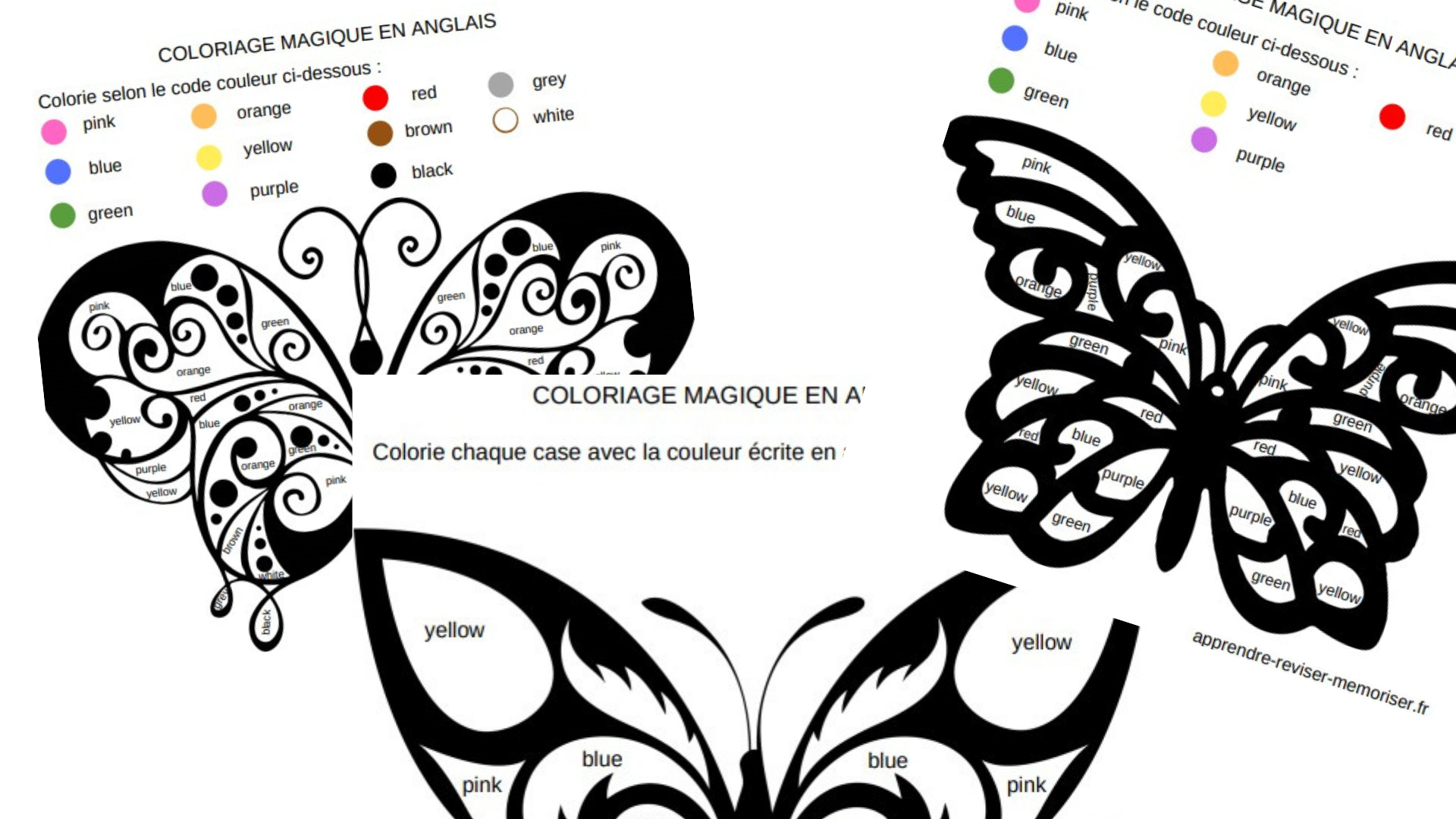 Coloriage Magique En Anglais.3 Coloriages Magiques En Anglais Pour Apprendre Les Couleurs