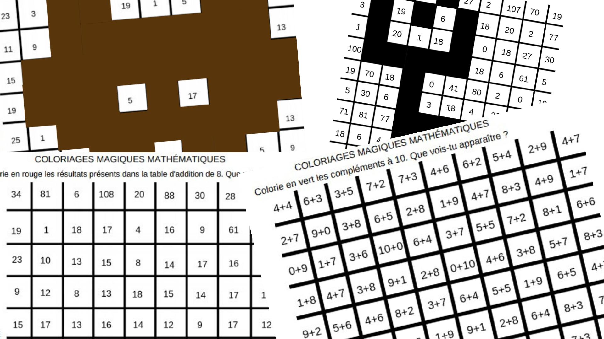 5 Coloriages Magiques Mathematiques Complements A 10 Doubles