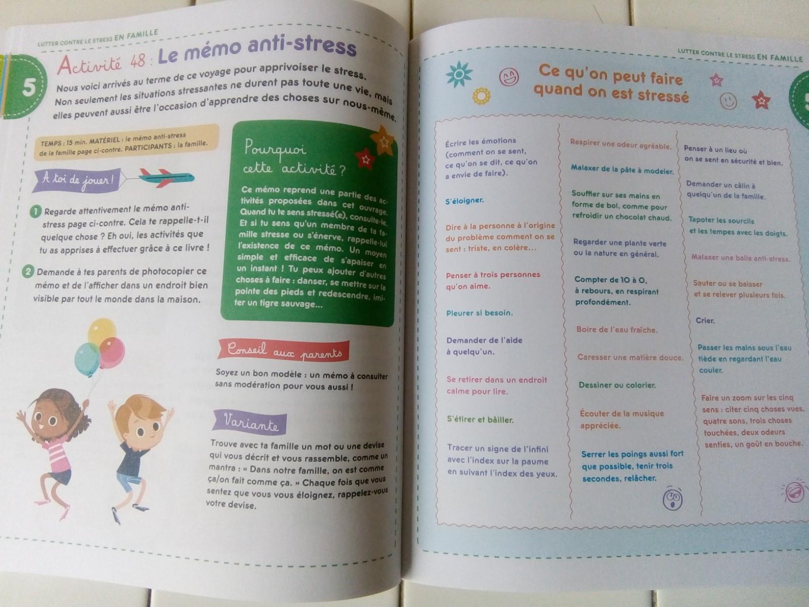 50 activités anti stress bienveillantes enfants