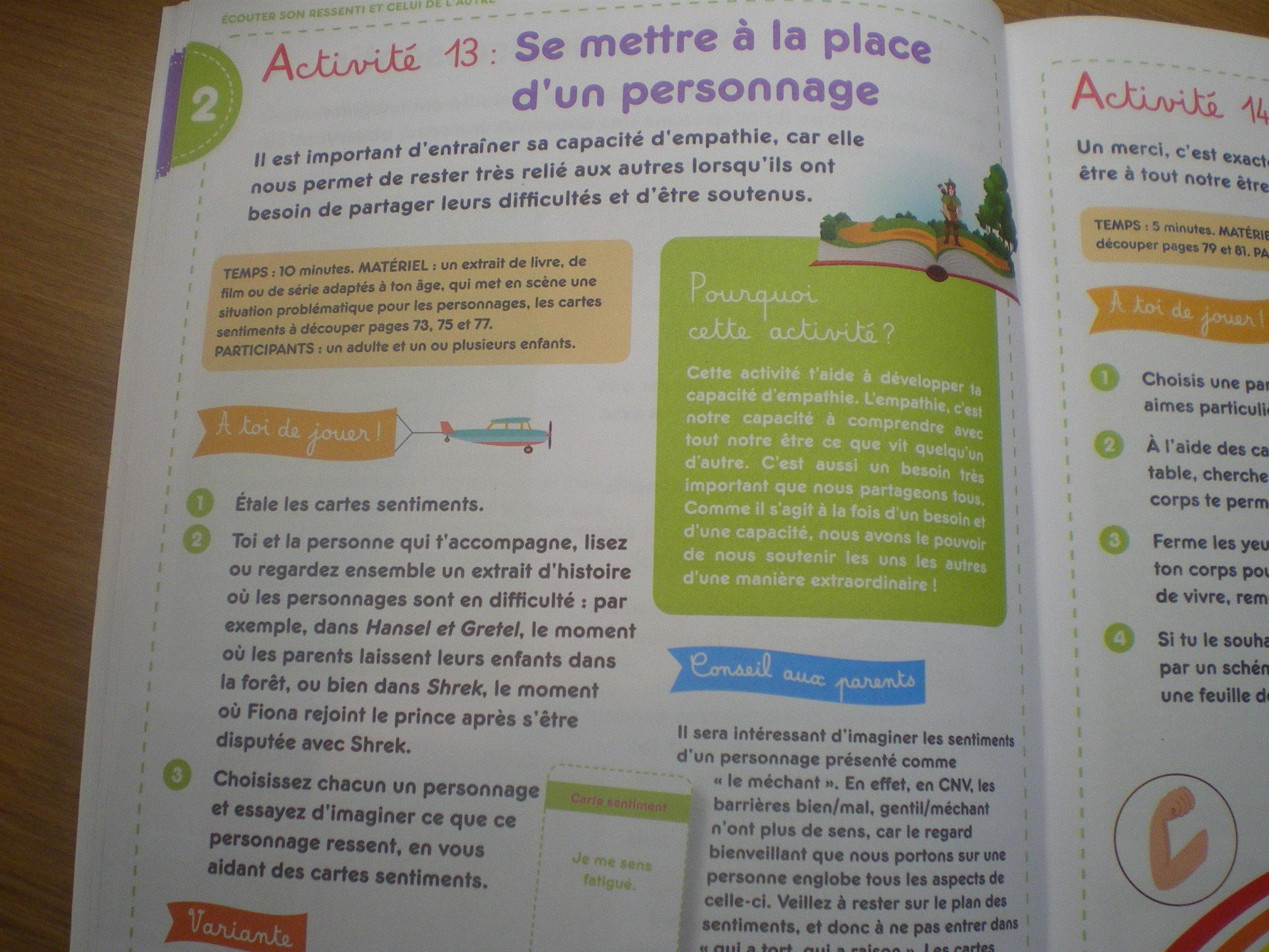 cahier activités enfants découvrir communication non violente