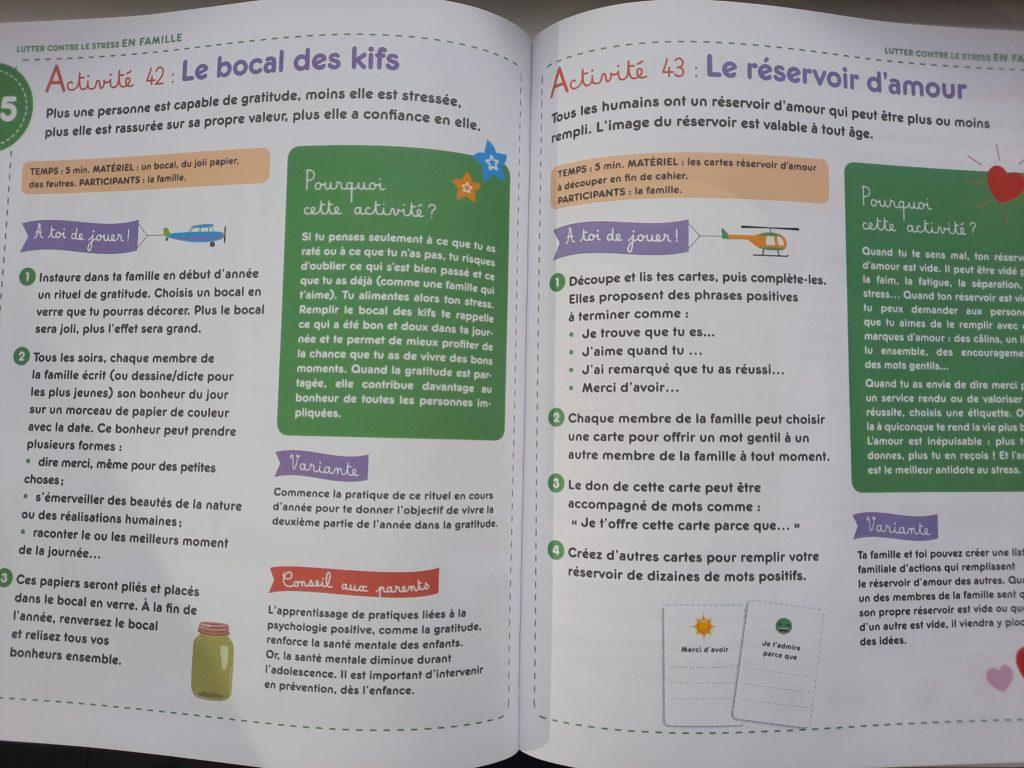 cahier activités pour les enfants anti stress