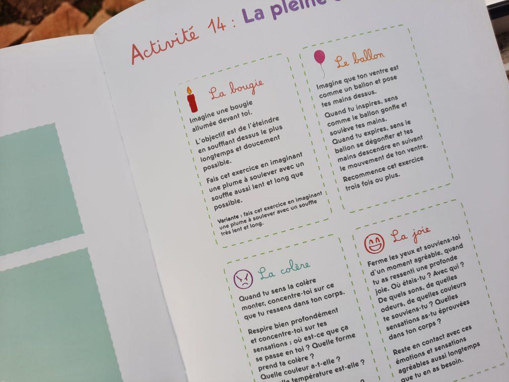 cahier activités pour les enfants stress